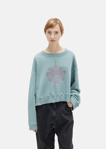 Cotton Fleece Graphic Sweatshirt