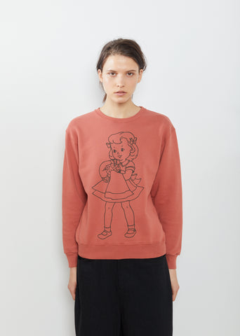 Little Girl Printed Sweatshirt