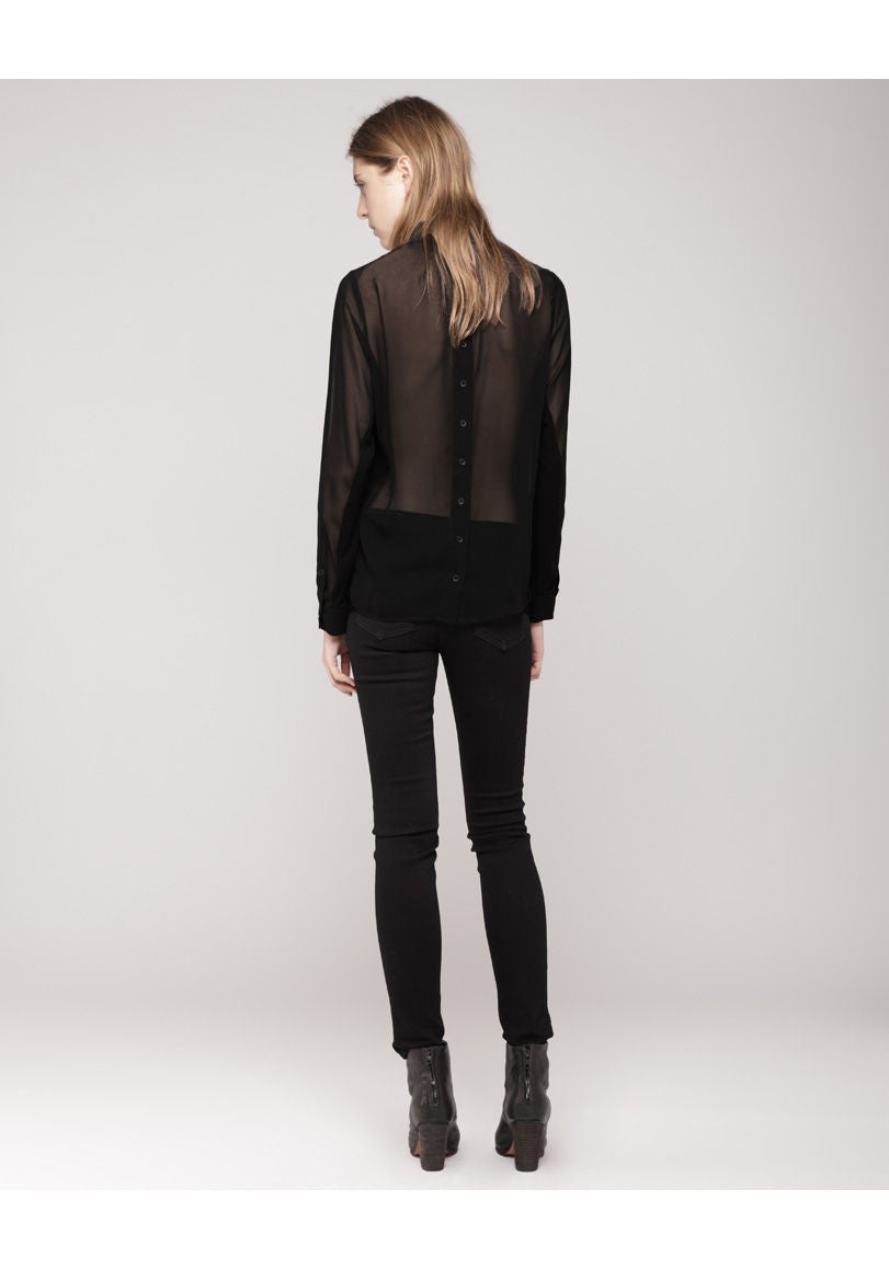 Sheer Tuxedo Shirt - RETURNED