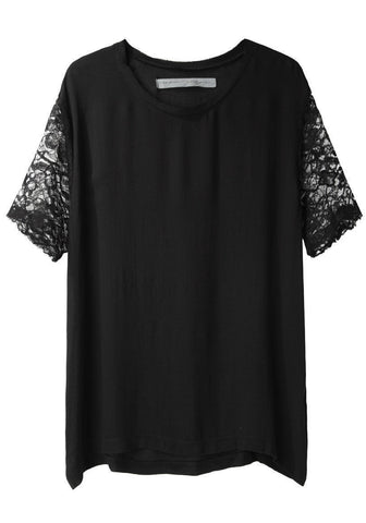Boxy Lace Sleeve Top