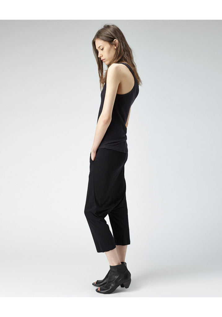 Cropped Drop Crotch Pants