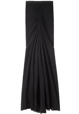 Ruched Long Skirt