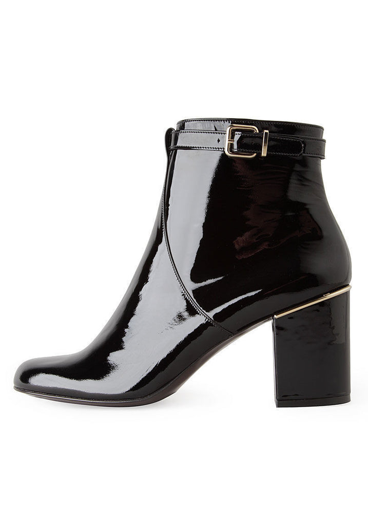 Hut Patent Ankle Boot