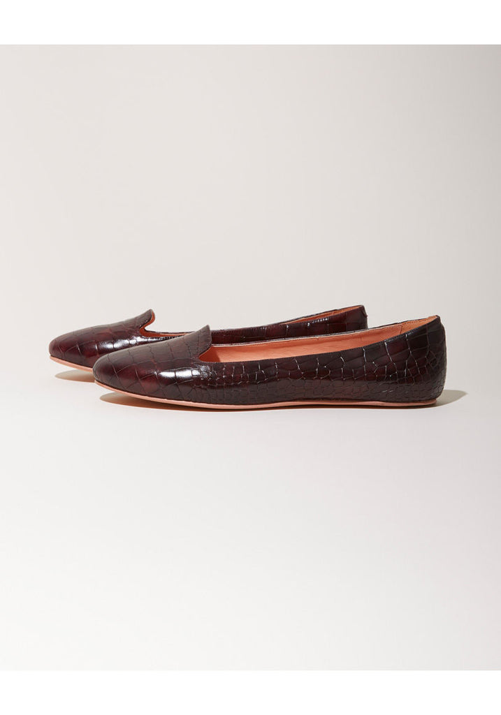 Embossed Leather Flat