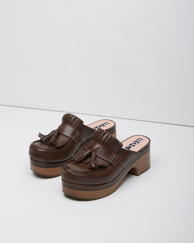 Kilted Tassel Loafer Clog