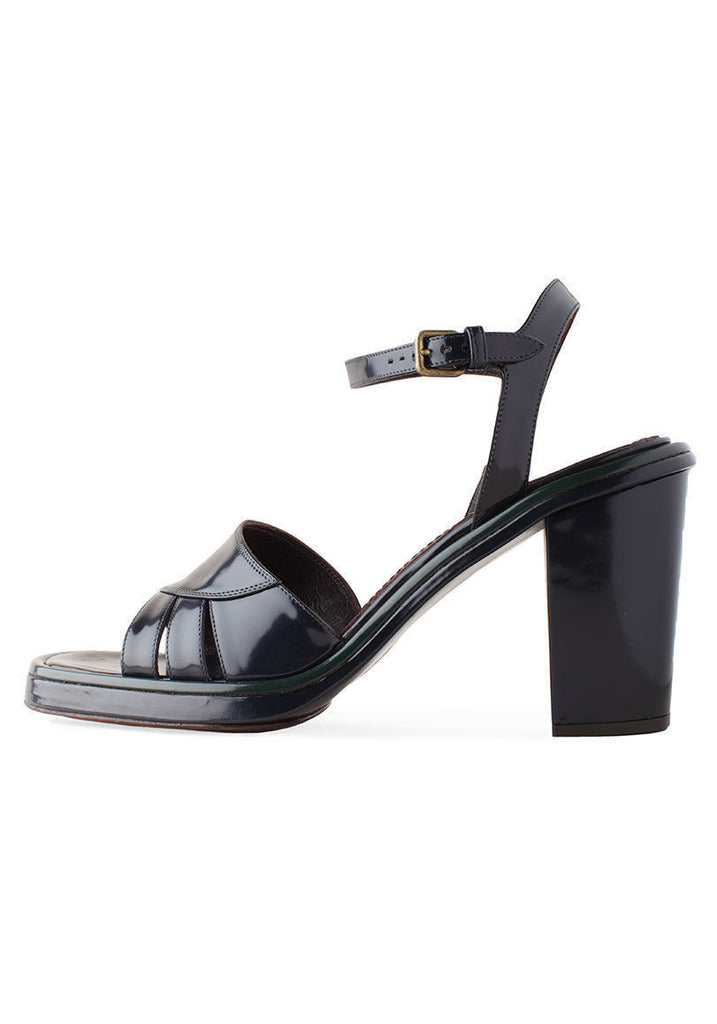 Patent Sandal with Heel
