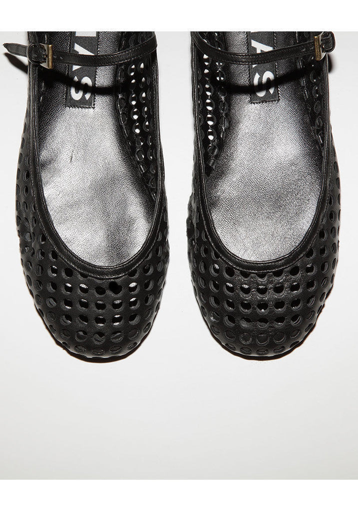 Perforated Mary Jane Flat