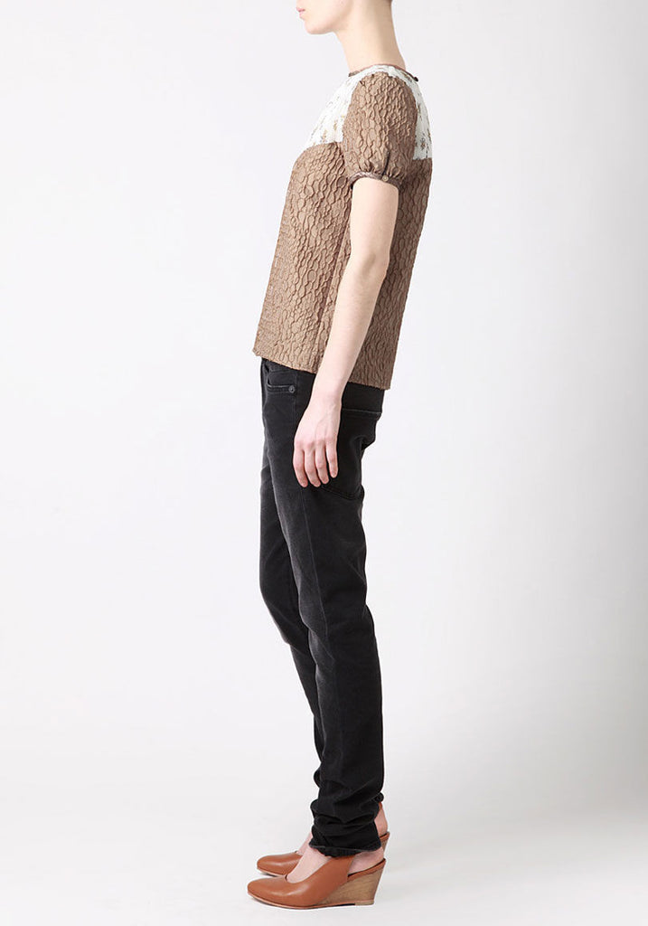 Pleated Yoke Blouse
