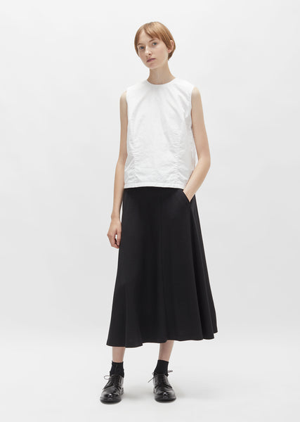 One Pocket Wool Jersey Skirt