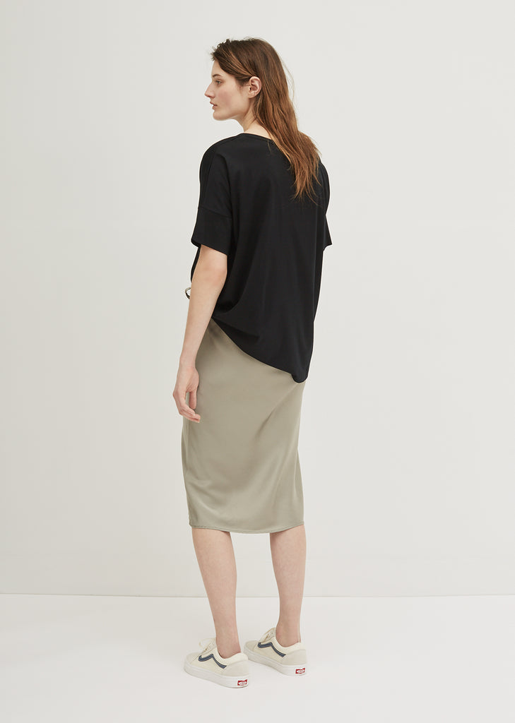 Silk Drawstring Skirt