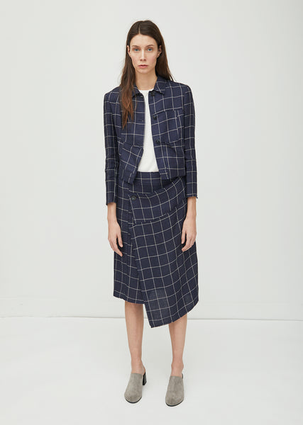 Harleth Li Check Wrap Skirt