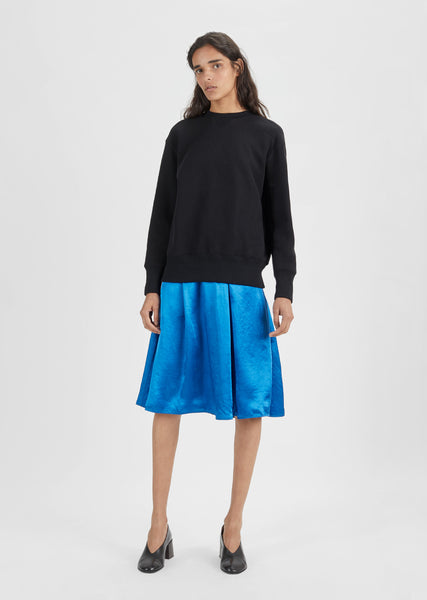 Sabina Satin Midi Skirt