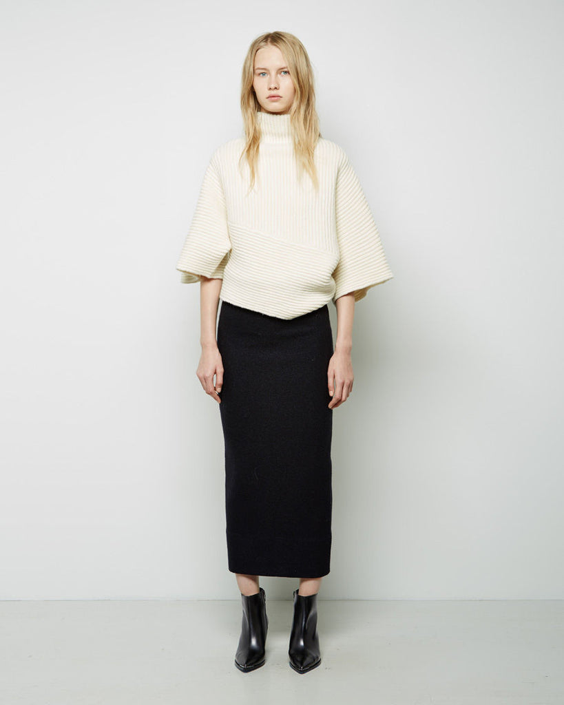 Donna Boiled Wool Tube Skirt