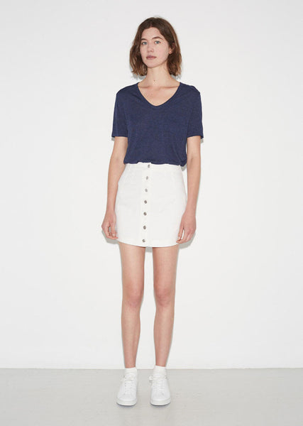 T by Alexander Wang Cotton Twill Skirt La Garconne