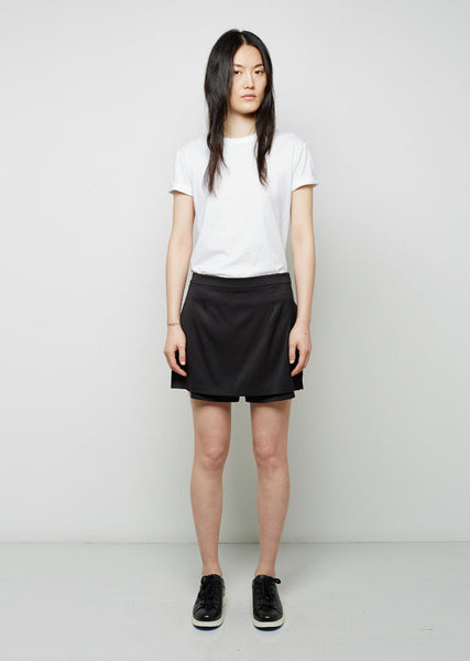 T by Alexander Wang Stretch Silk Twill Skirt La Garconne