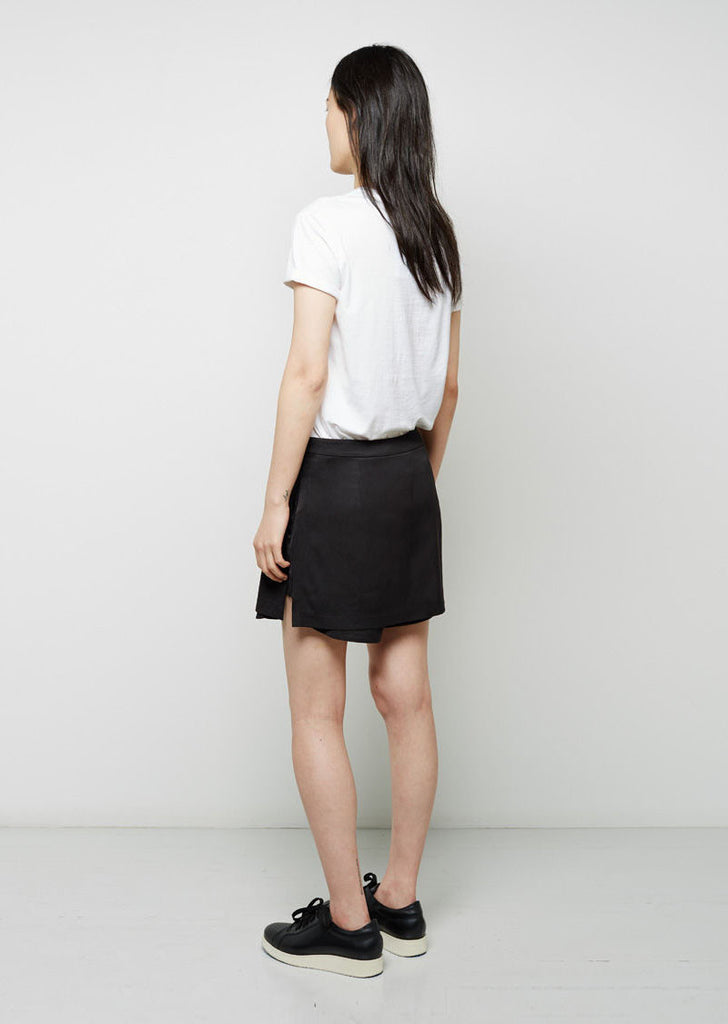 Stretch Silk Twill Skirt