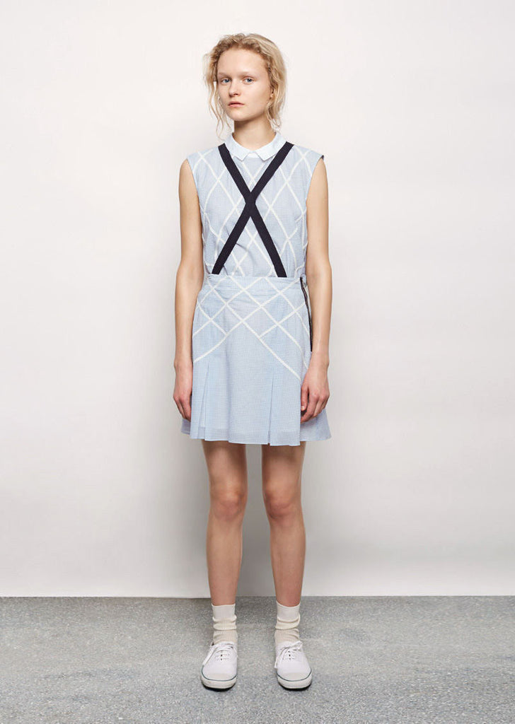 Lattice Applique Suspender Skirt