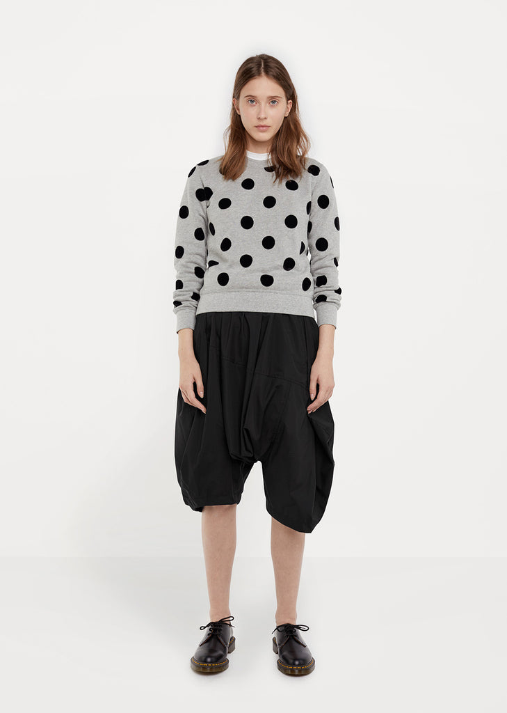Polka Dot Fleece Sweatshirt