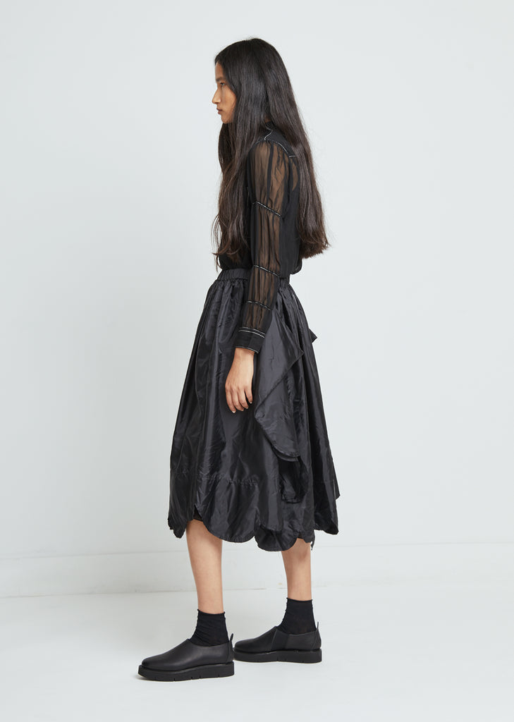Taffeta Garment Washed Skirt