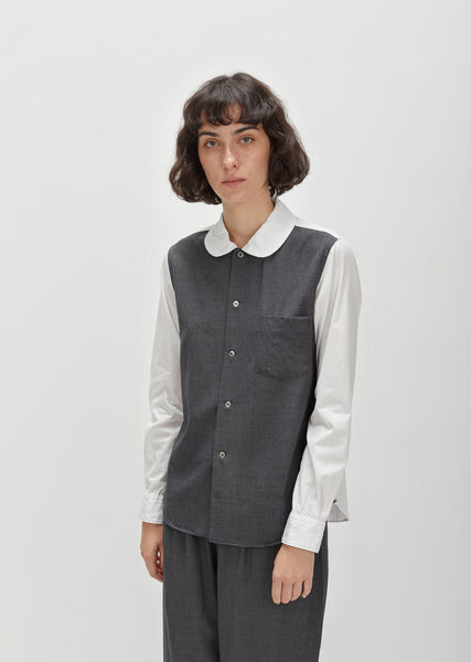 Cotton Broad x Wool Shadow Shirt