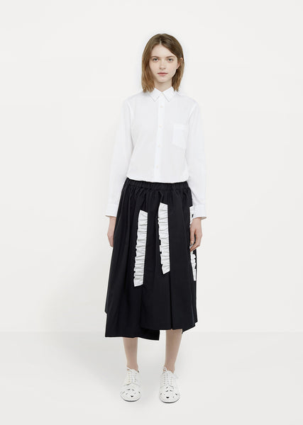 Tropical Wool Cotton Skirt