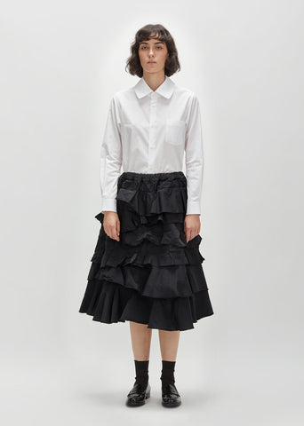 Polyester S-Twill Ruffle Skirt