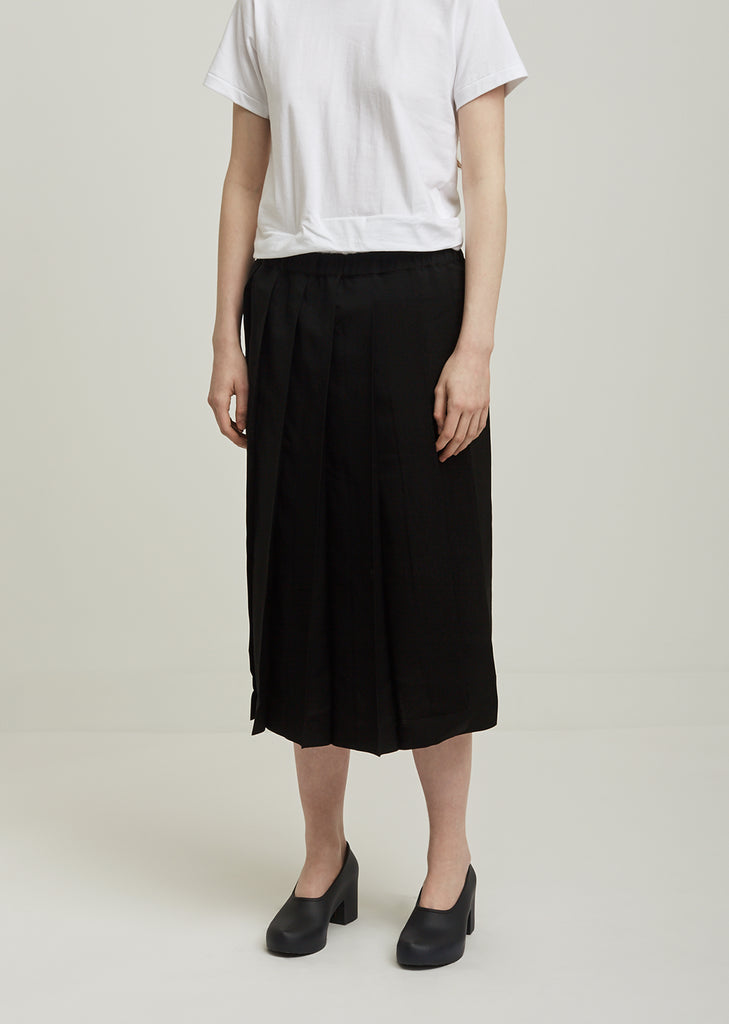 Mohair Wool Tropical Formal Pleated Skirt