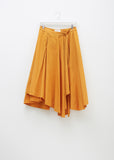 Long Umbrella Poplin Wrap Skirt