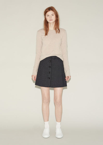 Hache Button Front Skirt La Garconne