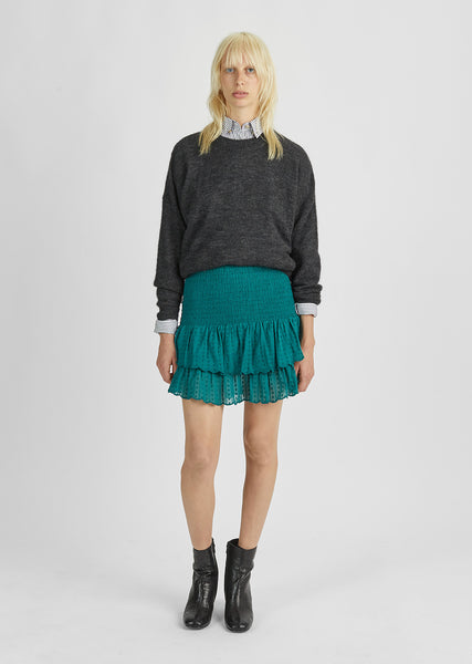 Yoni Smocked Mini Skirt