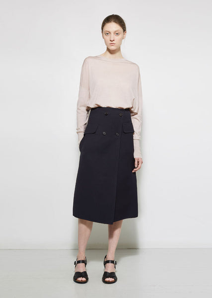 Jil Sander Ancora Double Breasted Skirt La Garconne