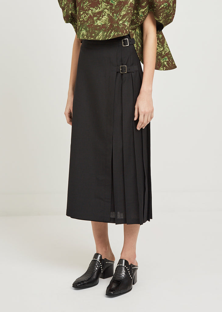 Pleated Panel Skirt