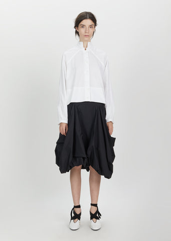 Pleated Drape Pocket Skirt