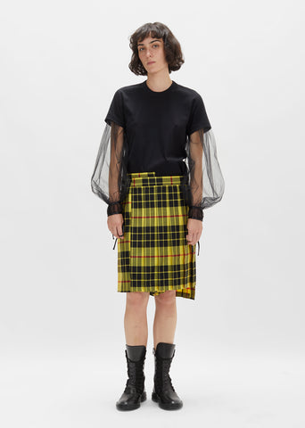 Wool Tartan Check Skirt