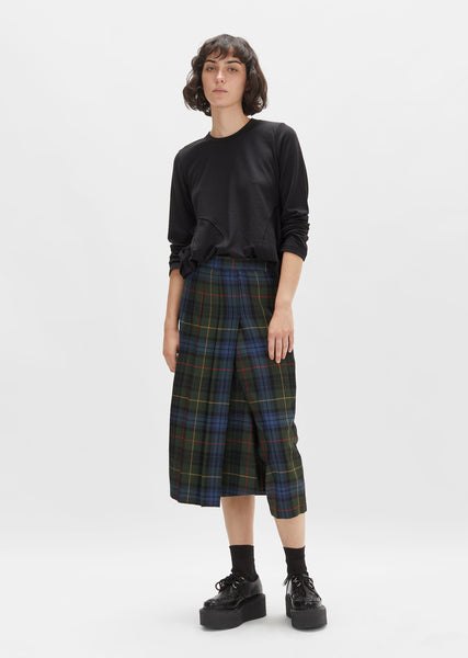 Wool Tartan Check Pants