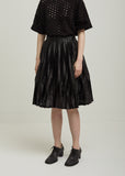 Polyester Film Pleated Skirt