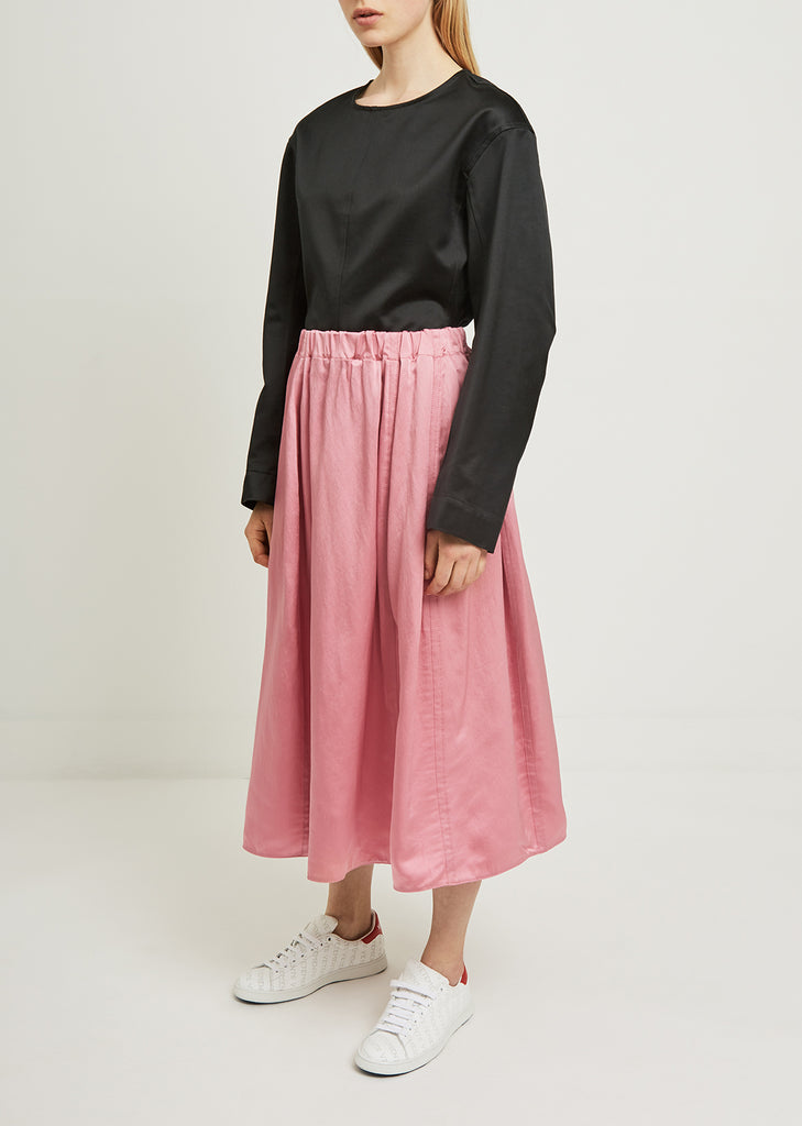 Washed Crepe Satin Skirt