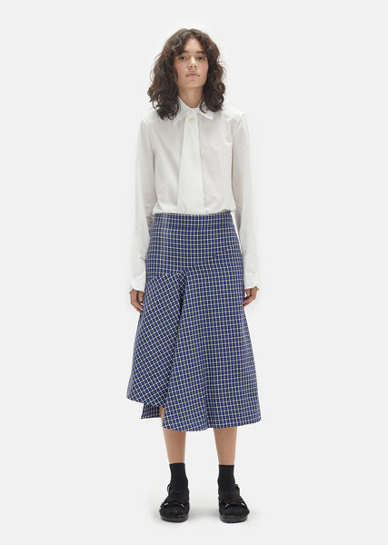Microstructure Wool Skirt