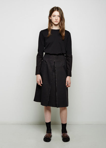 Bonded Wool Skirt