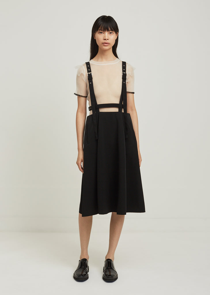 Polyester Grosgrain Suspender Skirt