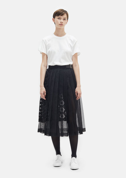 Flower Embroidery Tulle Skirt