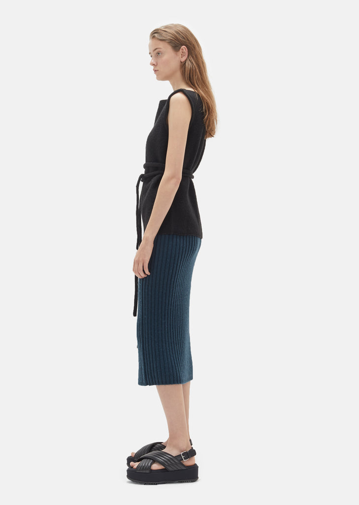 Wool Ribbed Skirt