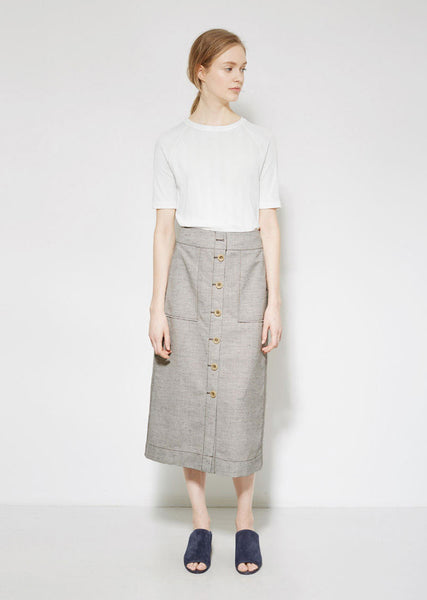 3.1 Phillip Lim Button Front Skirt La Garconne