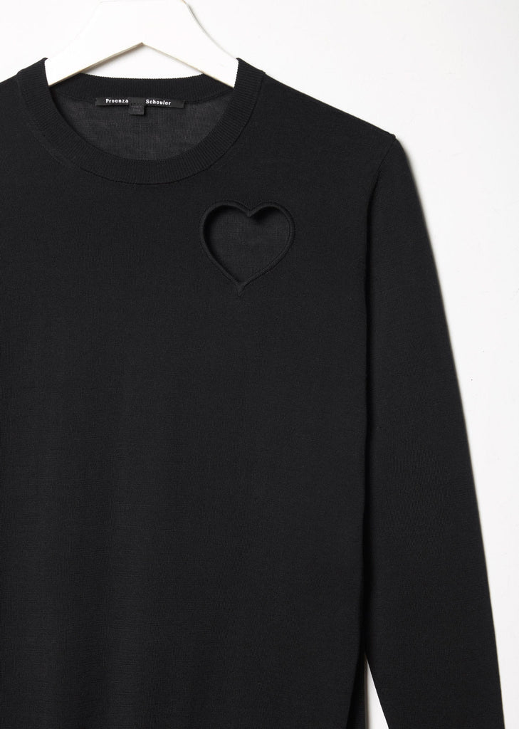 Heart Cut Out Pullover