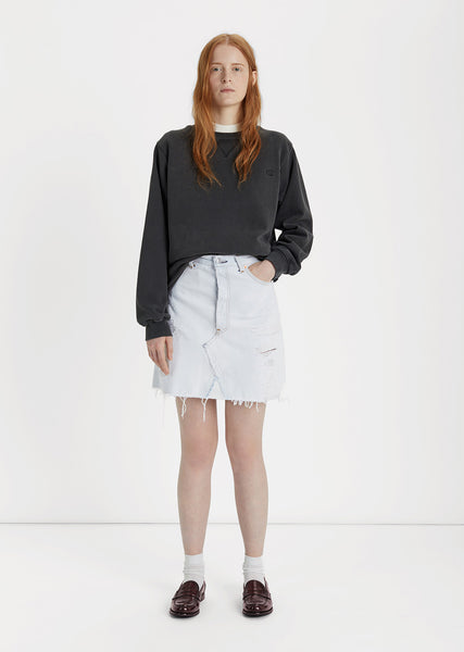 X Levi's High Waisted White Out Skirt