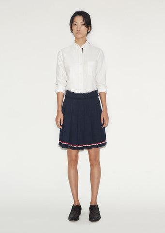 Wide Pleat Mini Skirt
