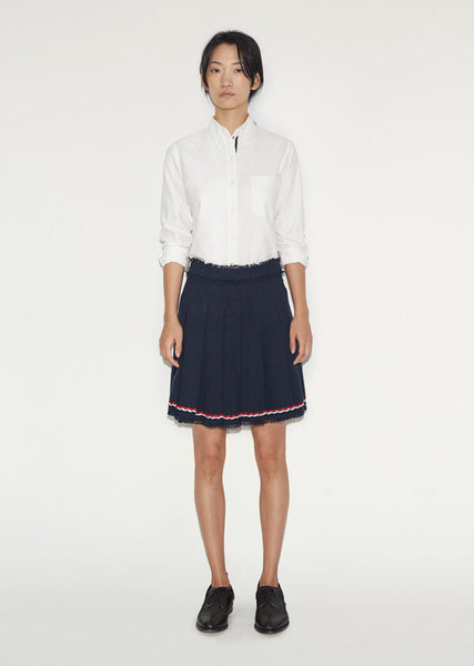 Thom Browne Wide Pleat Mini Skirt La Garconne
