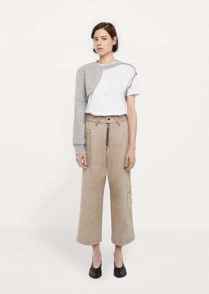 Darted Denim Culotte
