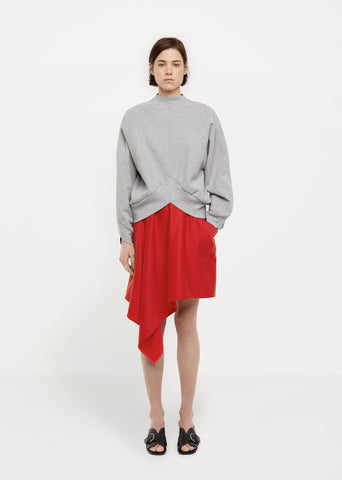 Bias-Cut Wool Skirt
