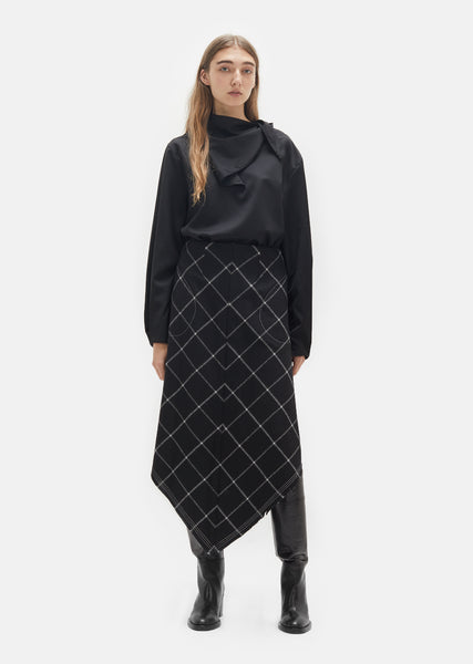 Phantom Pocket Grid Skirt